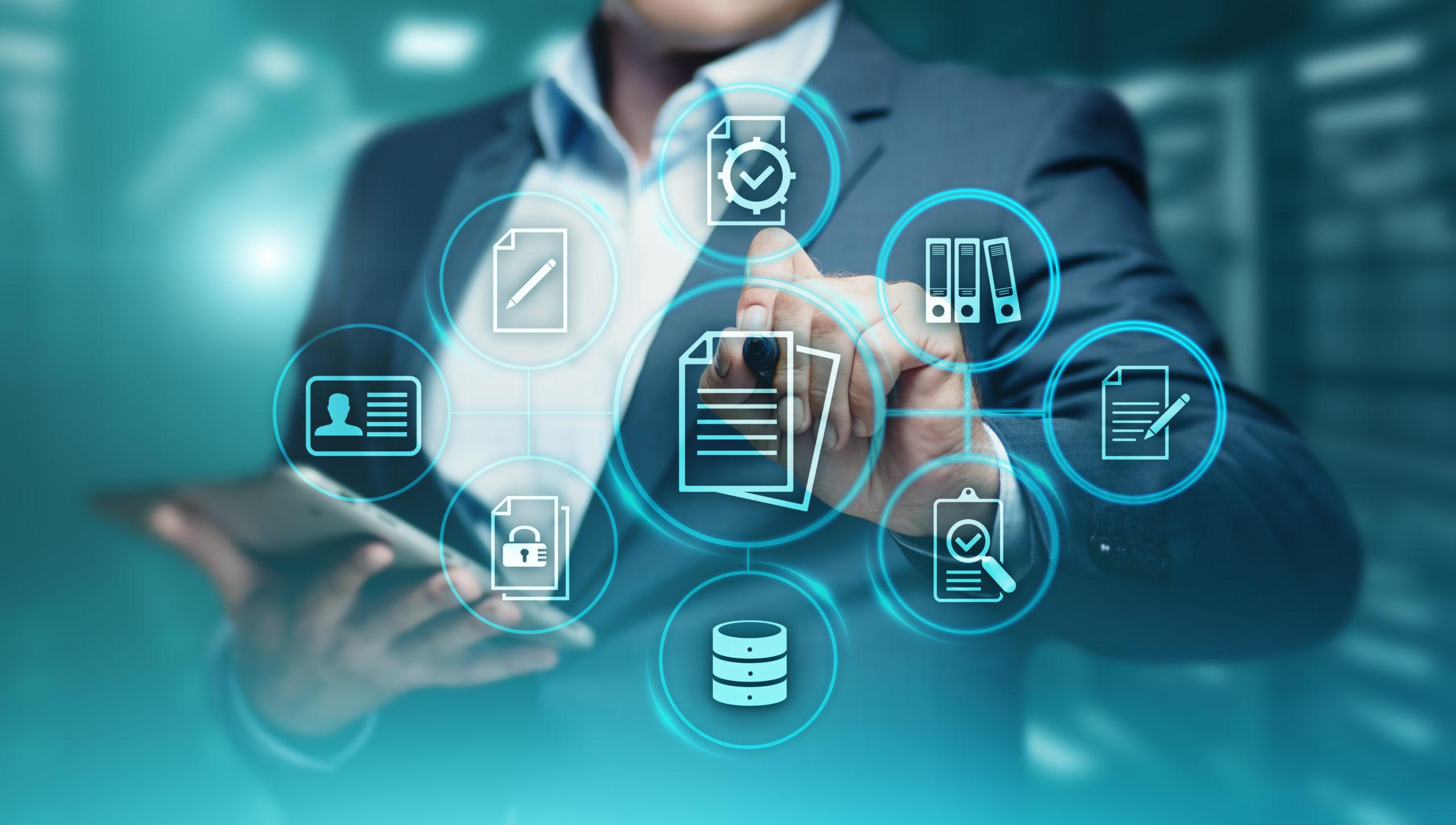 Document,Management,Data,System,Business,Internet,Technology,Concept.